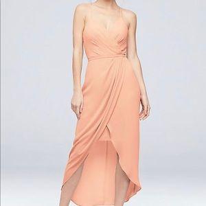 David's Bridal Bridesmaids Dress in Bellini